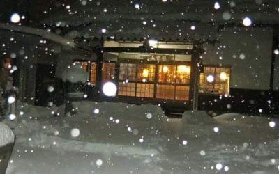 大晦日の雪の朝